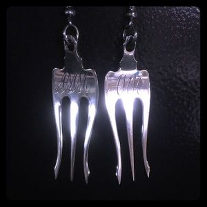 Jewelry - Antique fork earrings never worn. Sterling silver